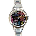 Panic At The Disco Northern Downpour Lyrics Metrolyrics Round Italian Charm Watch Front