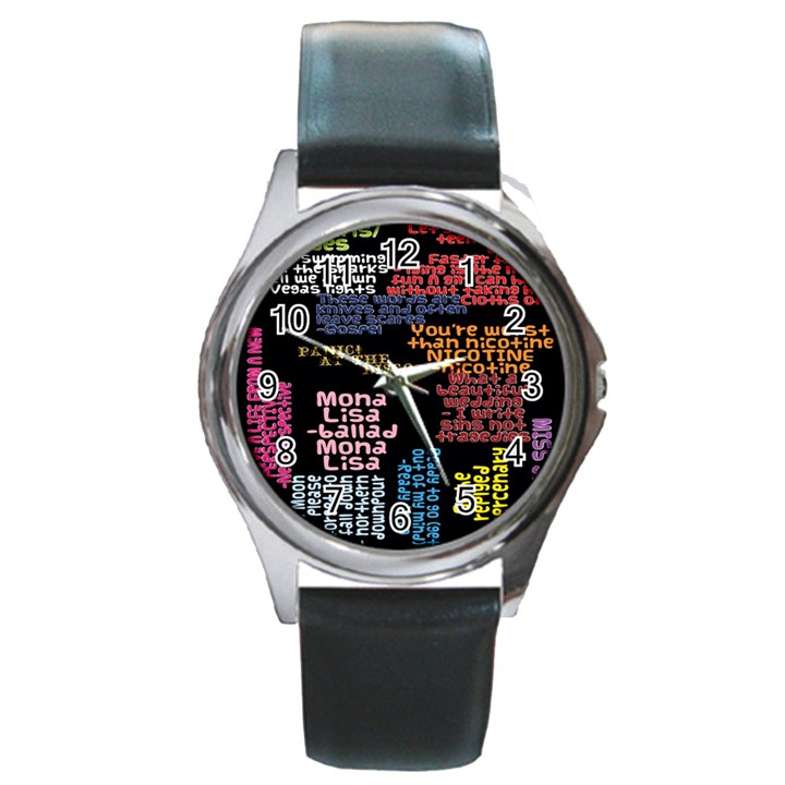 Panic At The Disco Northern Downpour Lyrics Metrolyrics Round Metal Watch