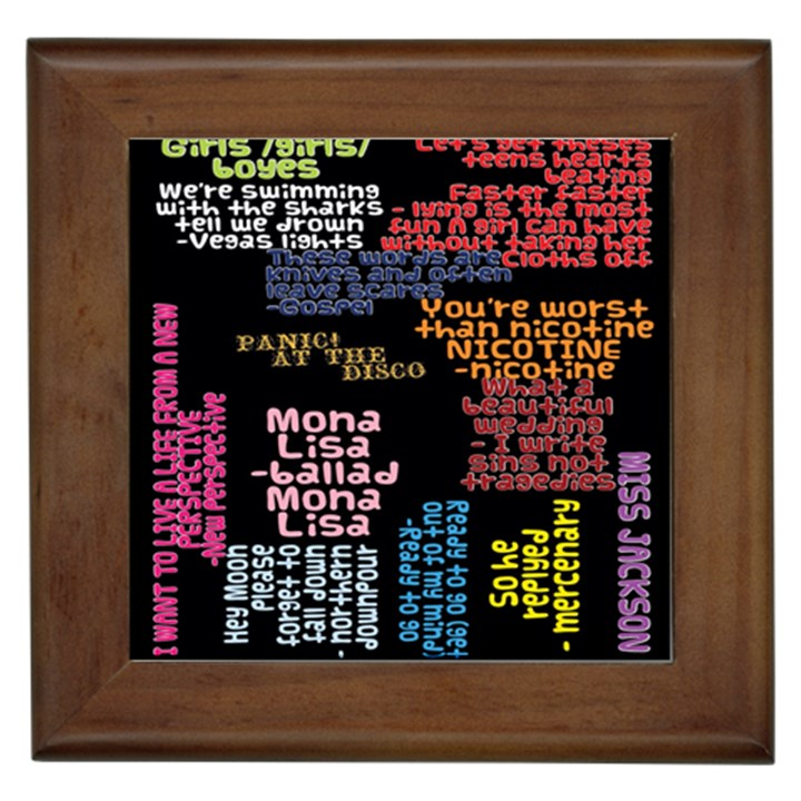Panic At The Disco Northern Downpour Lyrics Metrolyrics Framed Tiles