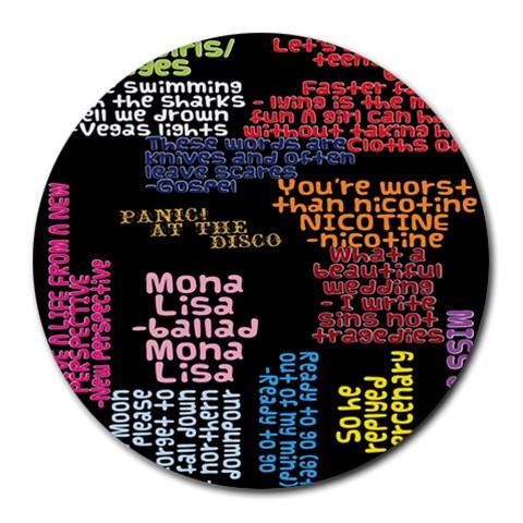 Panic At The Disco Northern Downpour Lyrics Metrolyrics Round Mousepads