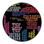 Panic At The Disco Northern Downpour Lyrics Metrolyrics Round Mousepads Front