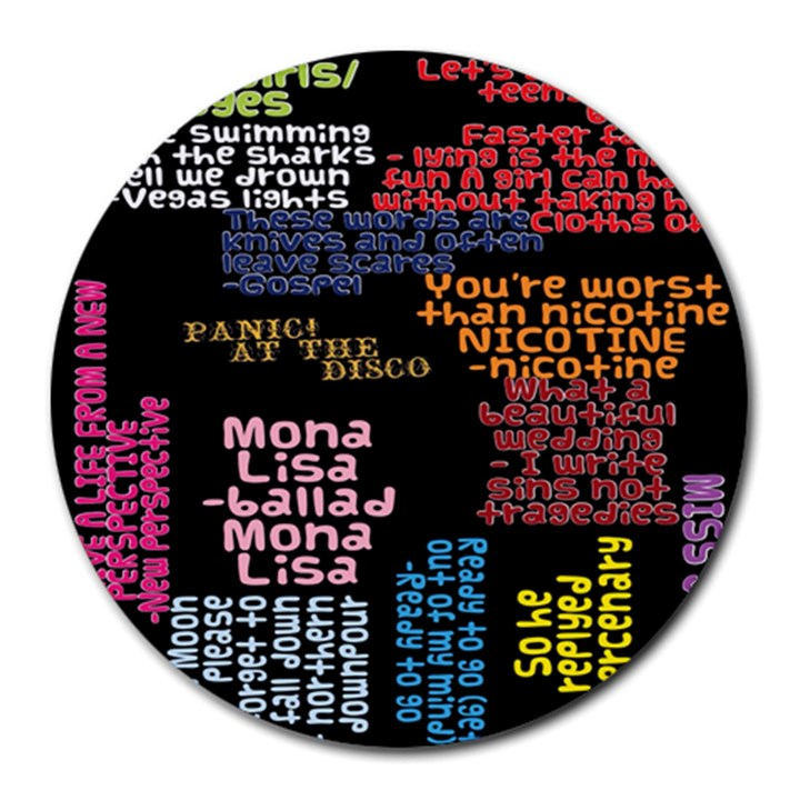 Panic At The Disco Northern Downpour Lyrics Metrolyrics Round Mousepads