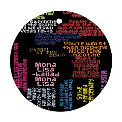 Panic At The Disco Northern Downpour Lyrics Metrolyrics Ornament (round)