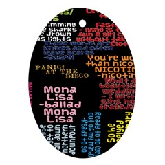 Panic At The Disco Northern Downpour Lyrics Metrolyrics Ornament (Oval)
