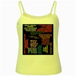Panic At The Disco Northern Downpour Lyrics Metrolyrics Yellow Spaghetti Tank Front