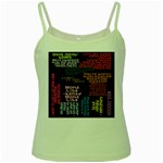 Panic At The Disco Northern Downpour Lyrics Metrolyrics Green Spaghetti Tank Front