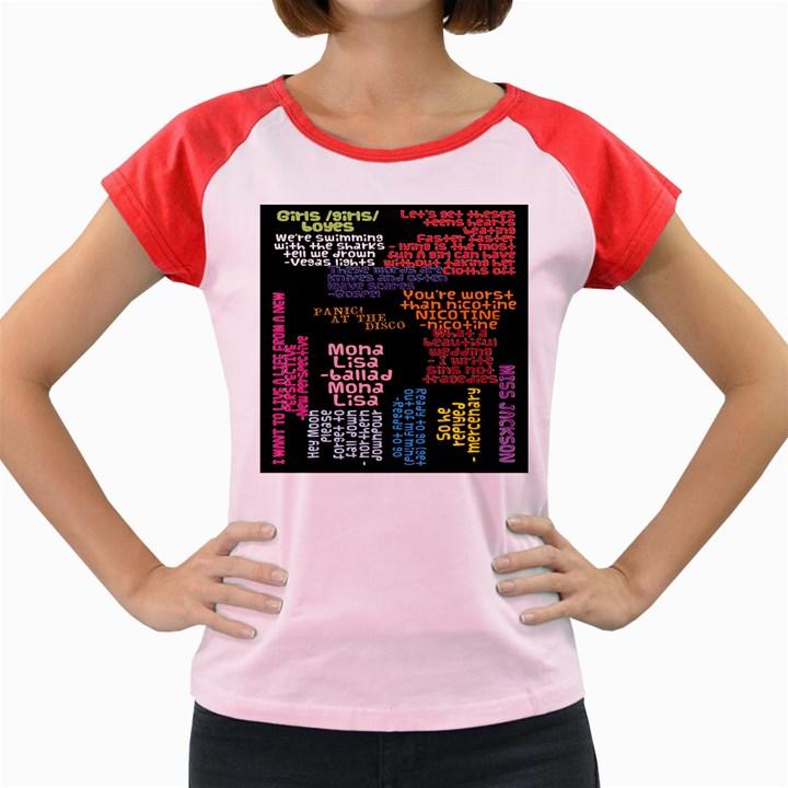 Panic At The Disco Northern Downpour Lyrics Metrolyrics Women s Cap Sleeve T-Shirt