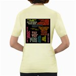 Panic At The Disco Northern Downpour Lyrics Metrolyrics Women s Yellow T-Shirt Back