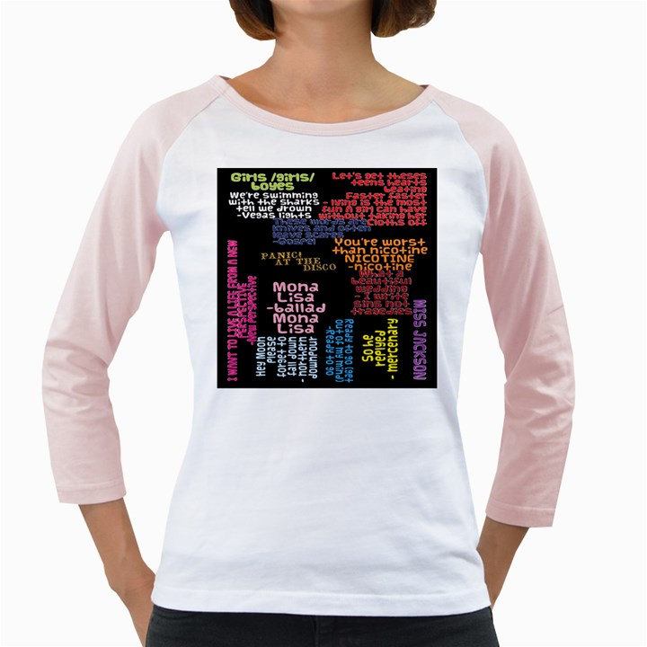 Panic At The Disco Northern Downpour Lyrics Metrolyrics Girly Raglans