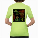 Panic At The Disco Northern Downpour Lyrics Metrolyrics Women s Green T-Shirt Back