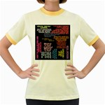 Panic At The Disco Northern Downpour Lyrics Metrolyrics Women s Fitted Ringer T-Shirts Front