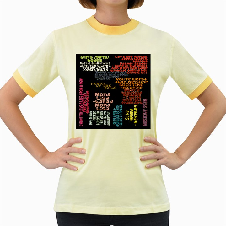 Panic At The Disco Northern Downpour Lyrics Metrolyrics Women s Fitted Ringer T-Shirts