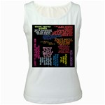 Panic At The Disco Northern Downpour Lyrics Metrolyrics Women s White Tank Top Front