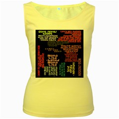 Panic At The Disco Northern Downpour Lyrics Metrolyrics Women s Yellow Tank Top