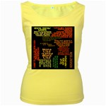 Panic At The Disco Northern Downpour Lyrics Metrolyrics Women s Yellow Tank Top Front