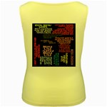 Panic At The Disco Northern Downpour Lyrics Metrolyrics Women s Yellow Tank Top Back