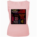 Panic At The Disco Northern Downpour Lyrics Metrolyrics Women s Pink Tank Top Front