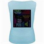 Panic At The Disco Northern Downpour Lyrics Metrolyrics Women s Baby Blue Tank Top Back