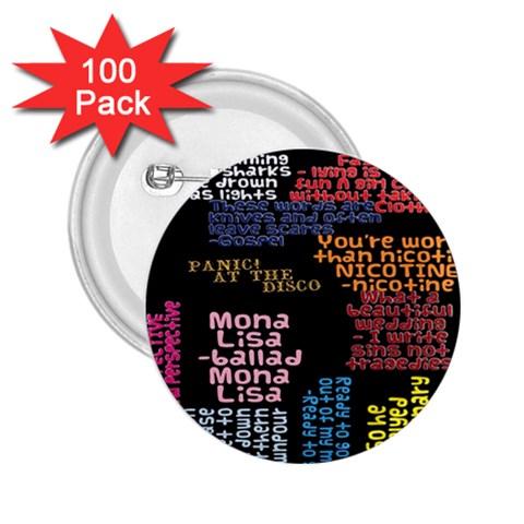 Panic At The Disco Northern Downpour Lyrics Metrolyrics 2.25  Buttons (100 pack)