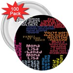 Panic At The Disco Northern Downpour Lyrics Metrolyrics 3  Buttons (100 pack)  Front