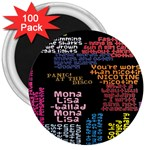 Panic At The Disco Northern Downpour Lyrics Metrolyrics 3  Magnets (100 pack) Front