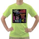 Panic At The Disco Northern Downpour Lyrics Metrolyrics Green T-Shirt Front