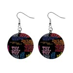 Panic At The Disco Northern Downpour Lyrics Metrolyrics Mini Button Earrings Front