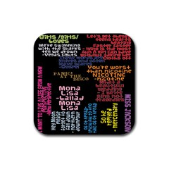 Panic At The Disco Northern Downpour Lyrics Metrolyrics Rubber Square Coaster (4 Pack)