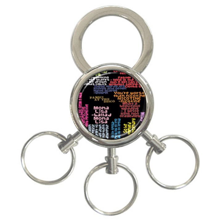 Panic At The Disco Northern Downpour Lyrics Metrolyrics 3-Ring Key Chains