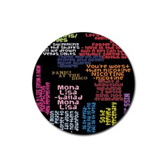 Panic At The Disco Northern Downpour Lyrics Metrolyrics Rubber Round Coaster (4 Pack)