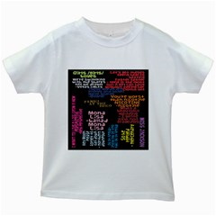 Panic At The Disco Northern Downpour Lyrics Metrolyrics Kids White T-Shirts