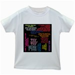 Panic At The Disco Northern Downpour Lyrics Metrolyrics Kids White T-Shirts Front