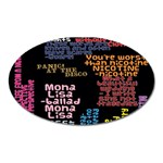 Panic At The Disco Northern Downpour Lyrics Metrolyrics Oval Magnet Front