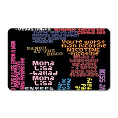 Panic At The Disco Northern Downpour Lyrics Metrolyrics Magnet (Rectangular)