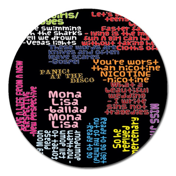 Panic At The Disco Northern Downpour Lyrics Metrolyrics Magnet 5  (Round)