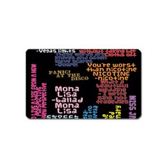 Panic At The Disco Northern Downpour Lyrics Metrolyrics Magnet (Name Card)