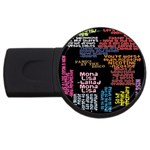Panic At The Disco Northern Downpour Lyrics Metrolyrics USB Flash Drive Round (2 GB)  Front