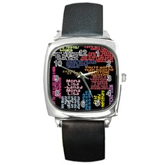 Panic At The Disco Northern Downpour Lyrics Metrolyrics Square Metal Watch