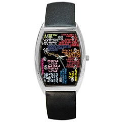 Panic At The Disco Northern Downpour Lyrics Metrolyrics Barrel Style Metal Watch