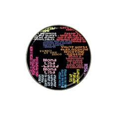 Panic At The Disco Northern Downpour Lyrics Metrolyrics Hat Clip Ball Marker (4 pack)