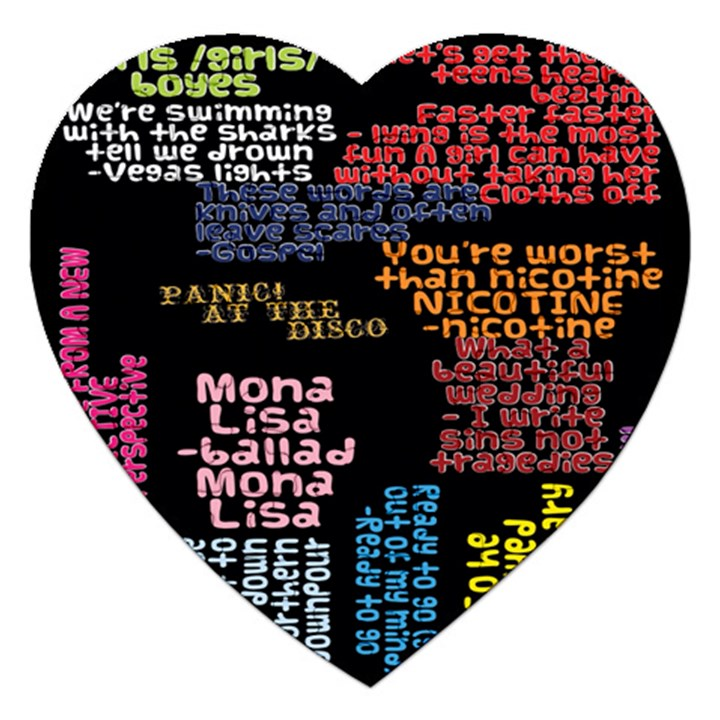 Panic At The Disco Northern Downpour Lyrics Metrolyrics Jigsaw Puzzle (Heart)