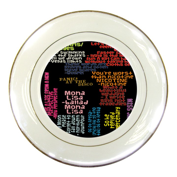 Panic At The Disco Northern Downpour Lyrics Metrolyrics Porcelain Plates