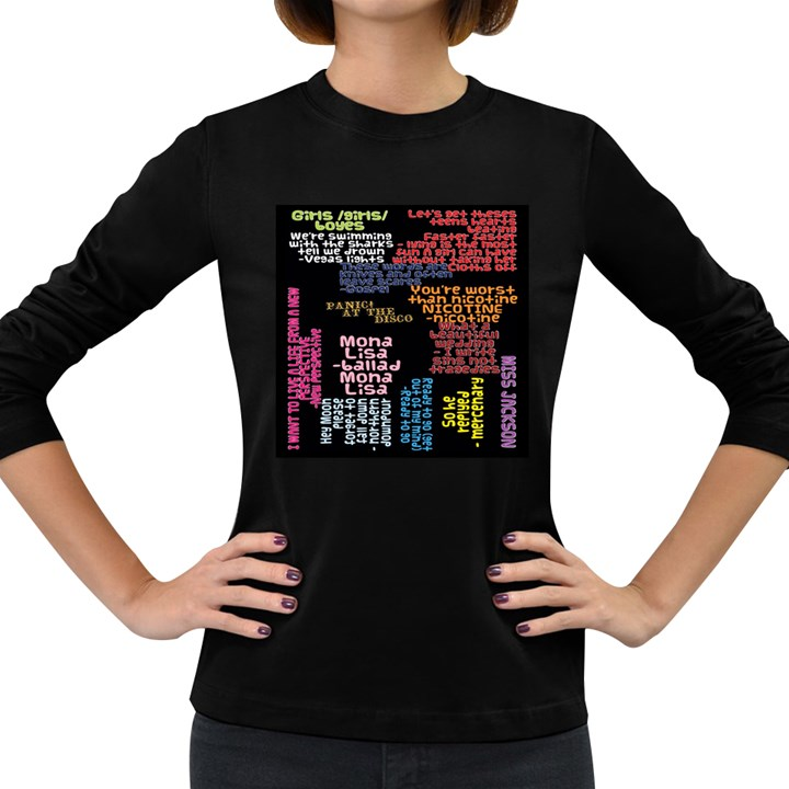 Panic At The Disco Northern Downpour Lyrics Metrolyrics Women s Long Sleeve Dark T-Shirts