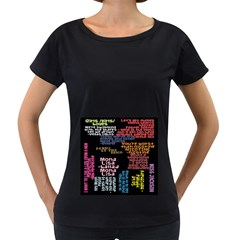 Panic At The Disco Northern Downpour Lyrics Metrolyrics Women s Loose-Fit T-Shirt (Black)