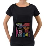 Panic At The Disco Northern Downpour Lyrics Metrolyrics Women s Loose-Fit T-Shirt (Black) Front