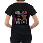 Panic At The Disco Northern Downpour Lyrics Metrolyrics Women s Loose-Fit T-Shirt (Black) Back