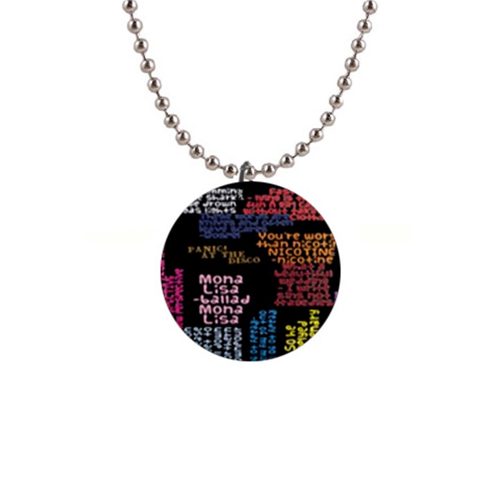 Panic At The Disco Northern Downpour Lyrics Metrolyrics Button Necklaces