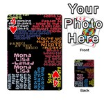Panic At The Disco Northern Downpour Lyrics Metrolyrics Playing Cards 54 Designs  Front - Heart4