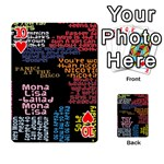 Panic At The Disco Northern Downpour Lyrics Metrolyrics Playing Cards 54 Designs  Front - Heart10