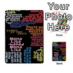 Panic At The Disco Northern Downpour Lyrics Metrolyrics Playing Cards 54 Designs  Front - Club2